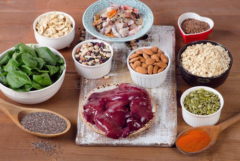 Manganreichnahrungsmittel stockfoto
