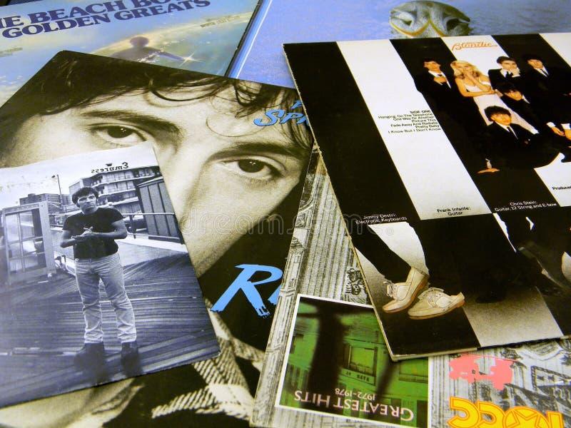 Mangas de disco de vinilo Springsteen imagenes de archivo