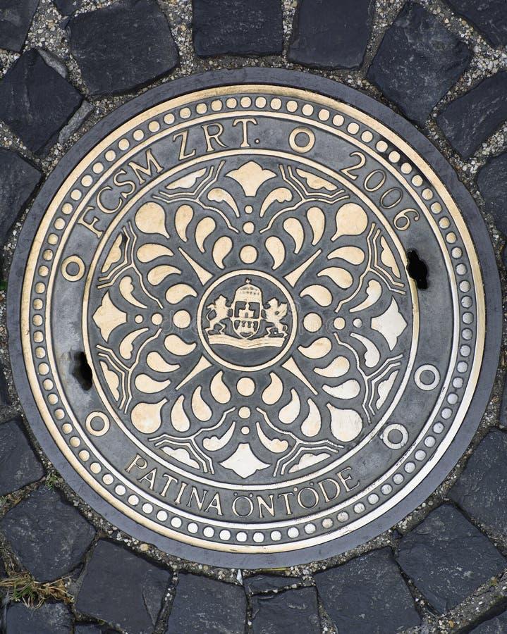 Mangatdekking in Boedapest royalty-vrije stock foto
