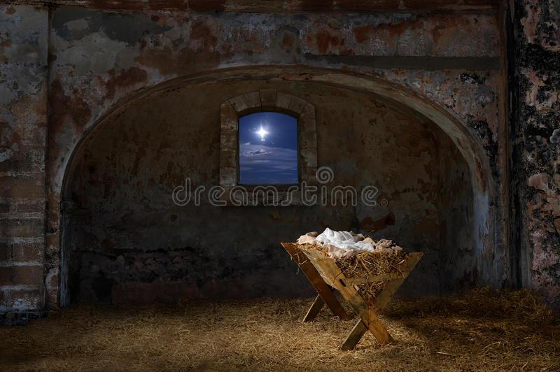 Manger In Old Barn Stock Image Image Of Jesus Faith