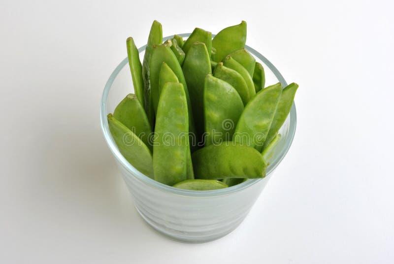 Mangetout, Also Known As Sugarsnap Pea Stock Photo