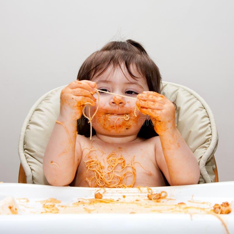 Mangeur malpropre drôle heureux images libres de droits