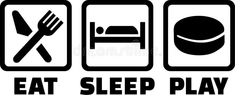 Mangez l'hockey de jeu de sommeil illustration libre de droits