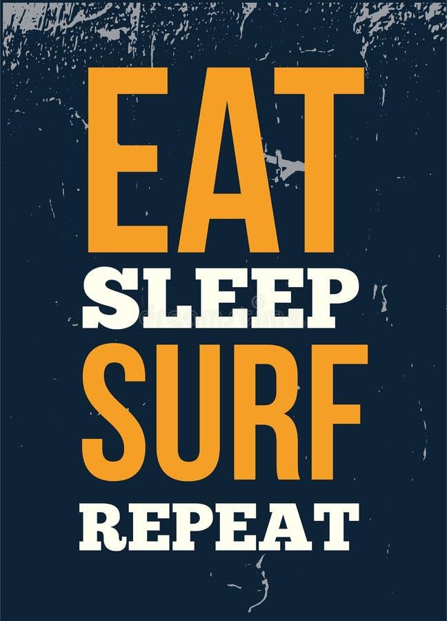 Mangez la conception d'affiche de typographie de répétition de ressac de sommeil pour le mur Conception graphique de T-shirt illustration de vecteur