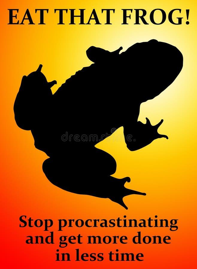 Mangez la grenouille illustration libre de droits