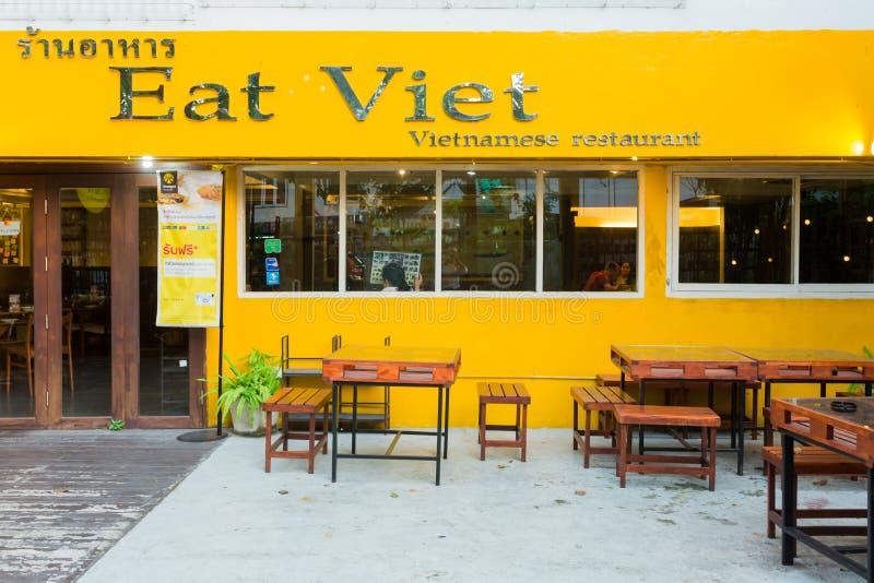 Mangez le restaurant/café de Viet Vietnamese photographie stock libre de droits