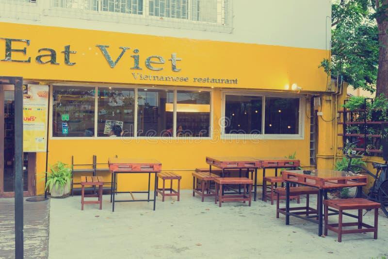 Mangez le restaurant/café de Viet Vietnamese photos stock