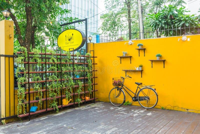 Mangez le restaurant/café de Viet Vietnamese photo libre de droits
