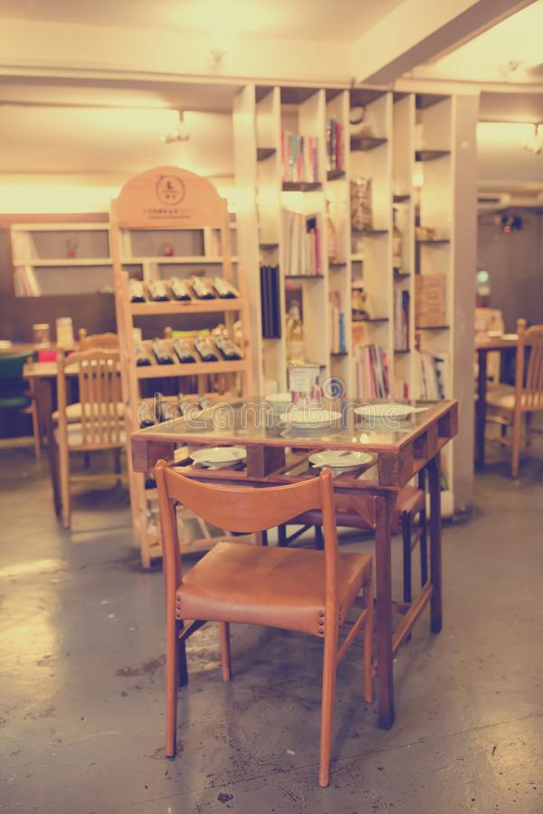 Mangez le restaurant/café de Viet Vietnamese images libres de droits