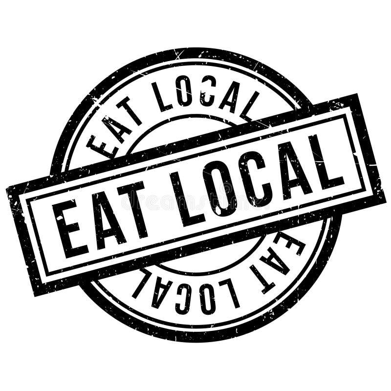 Mangez le tampon en caoutchouc local illustration stock