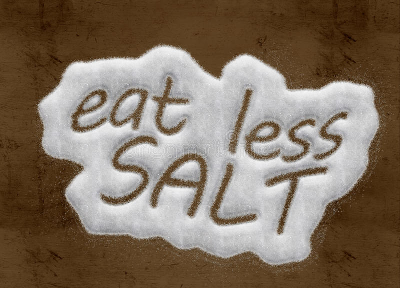 Mangez moins de sel illustration stock