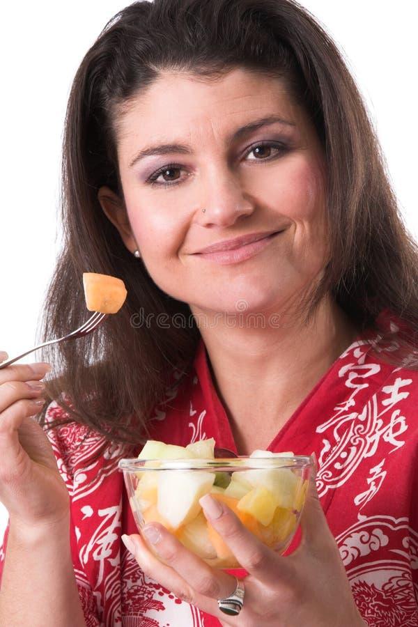 Mangez sain ont du fruit photos libres de droits