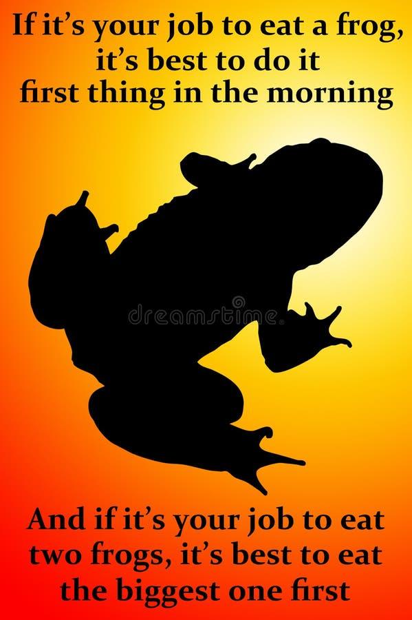 Mangez une grenouille illustration libre de droits