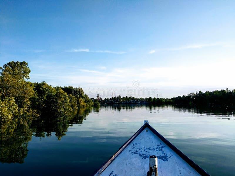 Manggar river royalty free stock photo