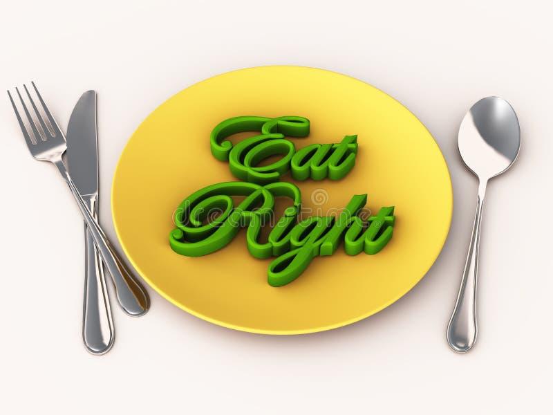 Mangi bene il programma di dieta illustrazione di stock
