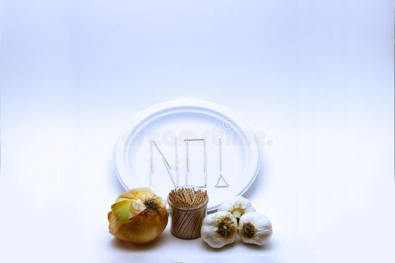 Mangiatore difficile - aglio e patata fotografie stock