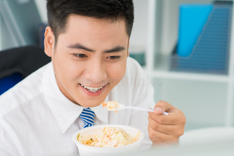 Mangiatore felice immagine stock libera da diritti