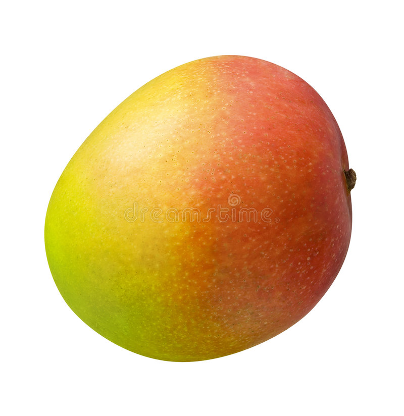 Mango. Isolated on a white background. Isolation is on a transparent layer in the PNG format stock photography