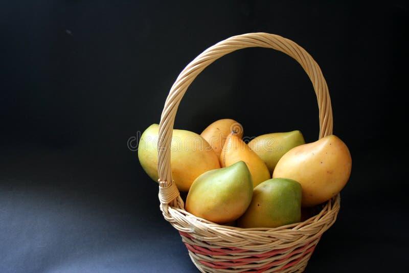 Mango basket stock photos