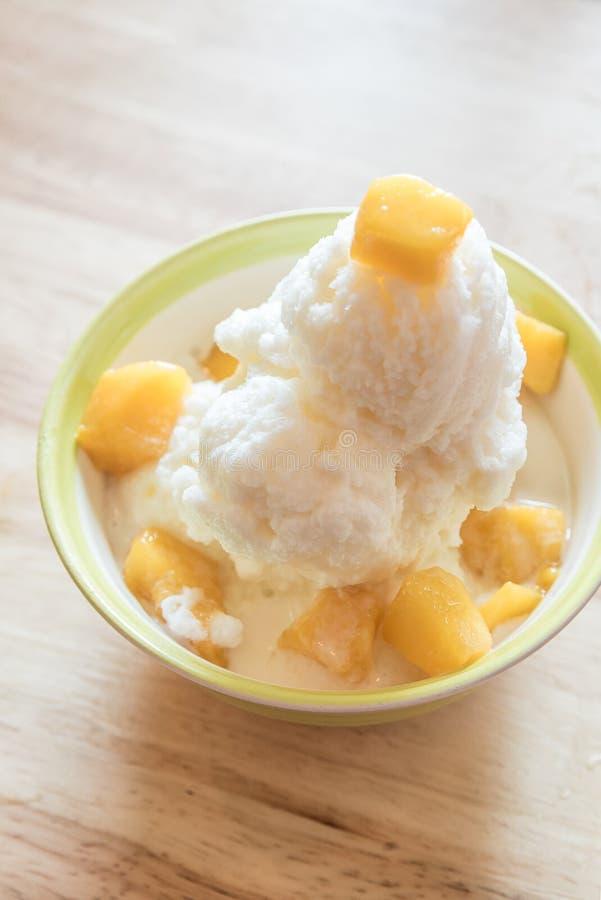 Mango bingsu stock image