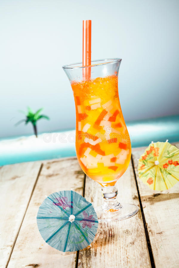 Mango Boba Cocktail Tea stock photography