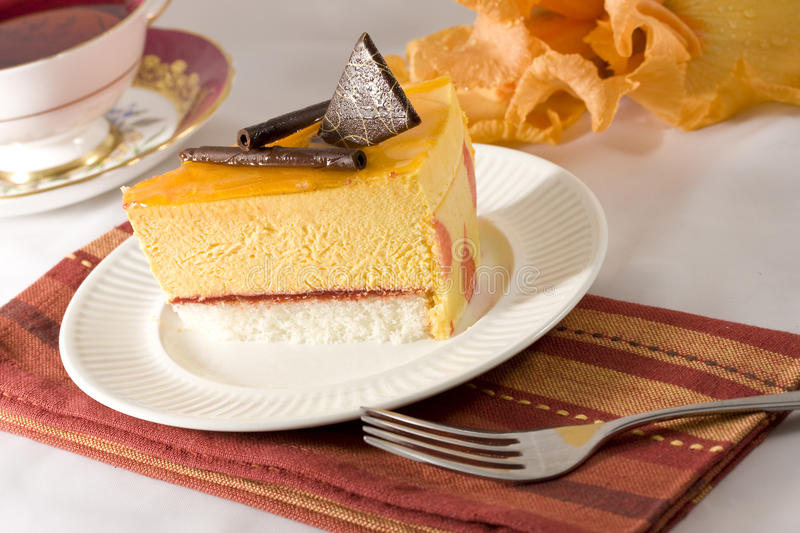 Mango cake stock photo