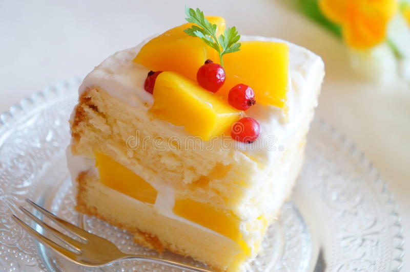 Mango Cake royalty free stock photos