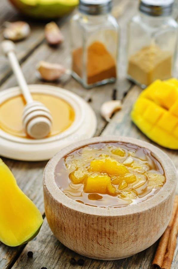 Mango chutney stock images
