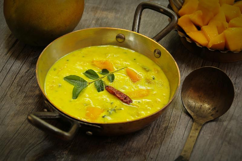 Mango Curry South Indian food. Mango Yogurt Curry South Indian food stock image