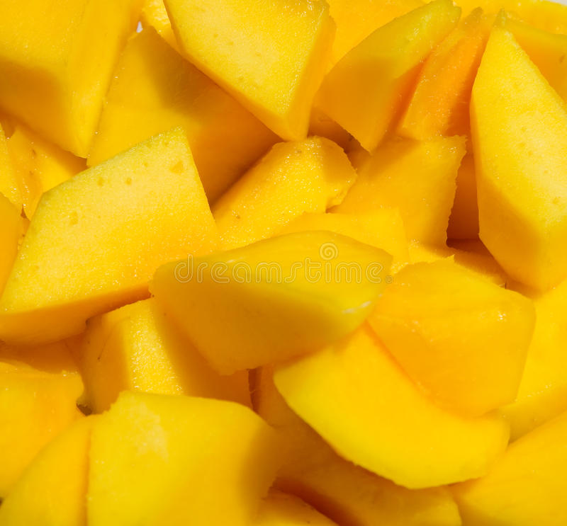 Download Mango cut in cubes stock photo. Image of dessert, mango - 15426982