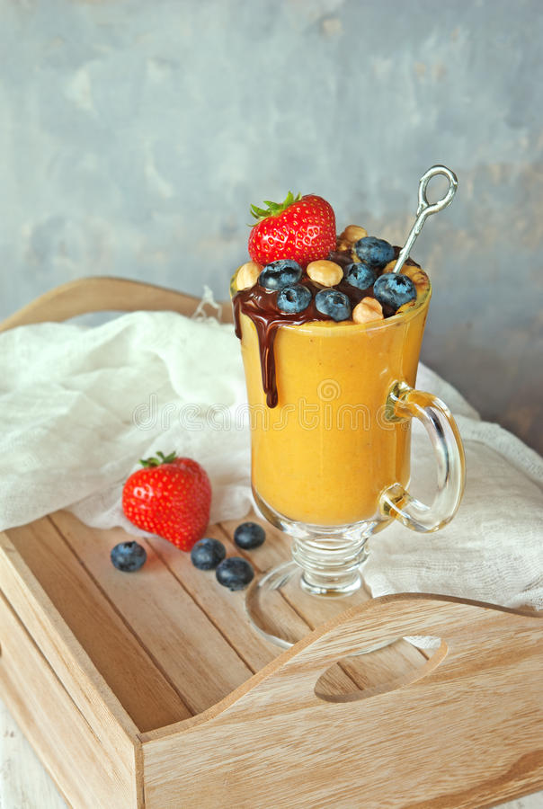 Download Mango dessert smoothie stock photo. Image of colorful - 70525162