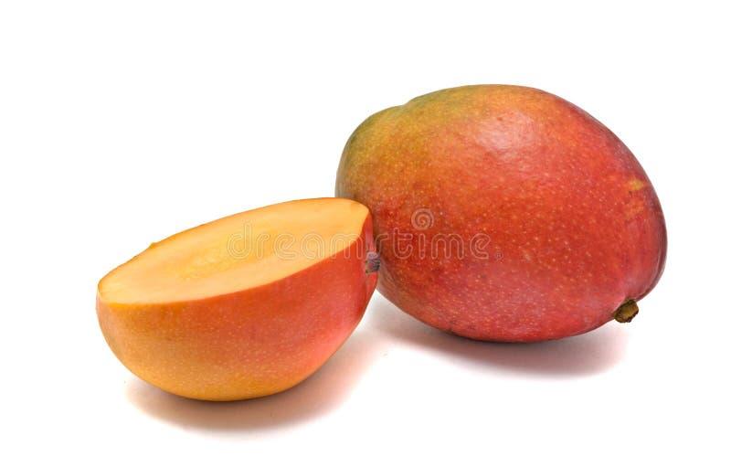 Mango en mangosectie royalty-vrije stock afbeeldingen