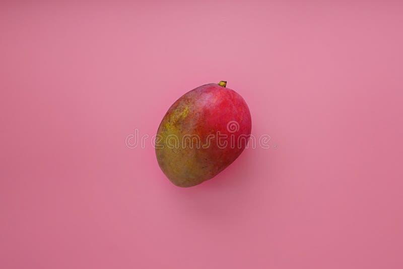 Mango entero en un fondo rosado fotografía de archivo