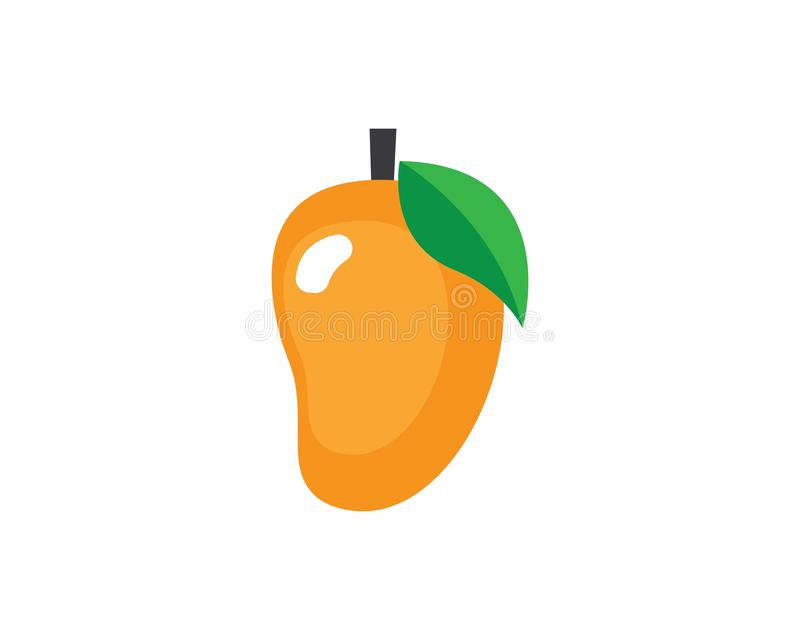 Mango in flat style vector illustration