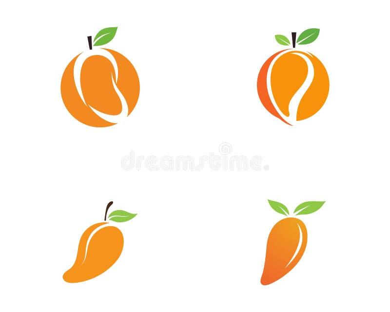 Mango in flat style. Mango vector logo. Mango stock illustration