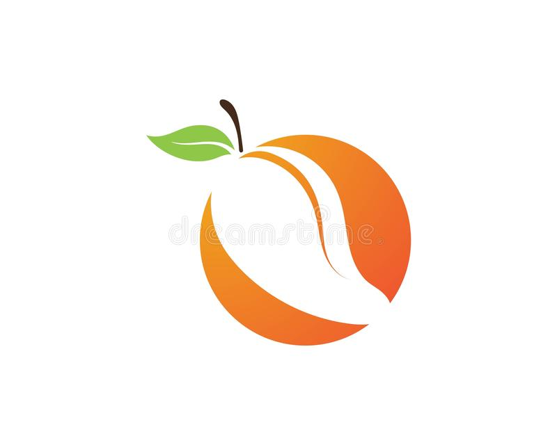 Mango in flat style. Mango vector logo. Mango royalty free illustration