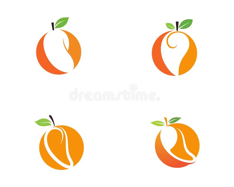 Mango in flat style. Mango vector logo. Mango vector illustration