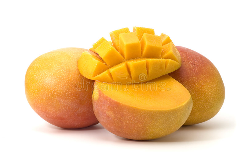 Mango. Geïsoleerdl. stock fotografie