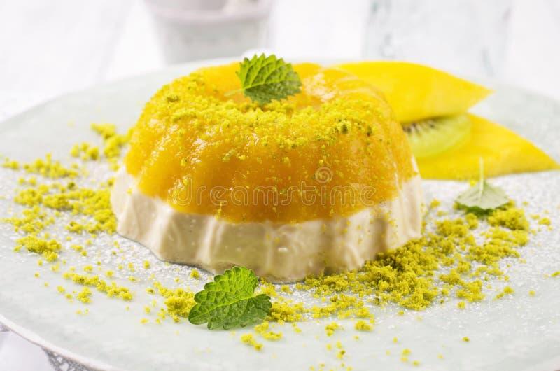 Mango-Gelatine stockfoto