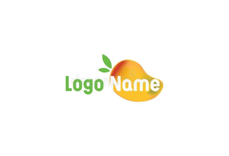 Mango Icon In Flat Style vector illustration
