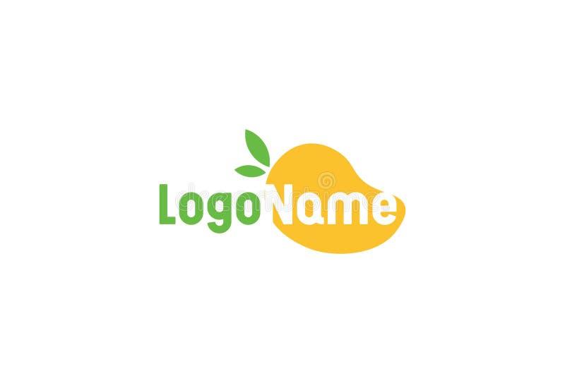 Mango Icon In Flat Style stock illustration