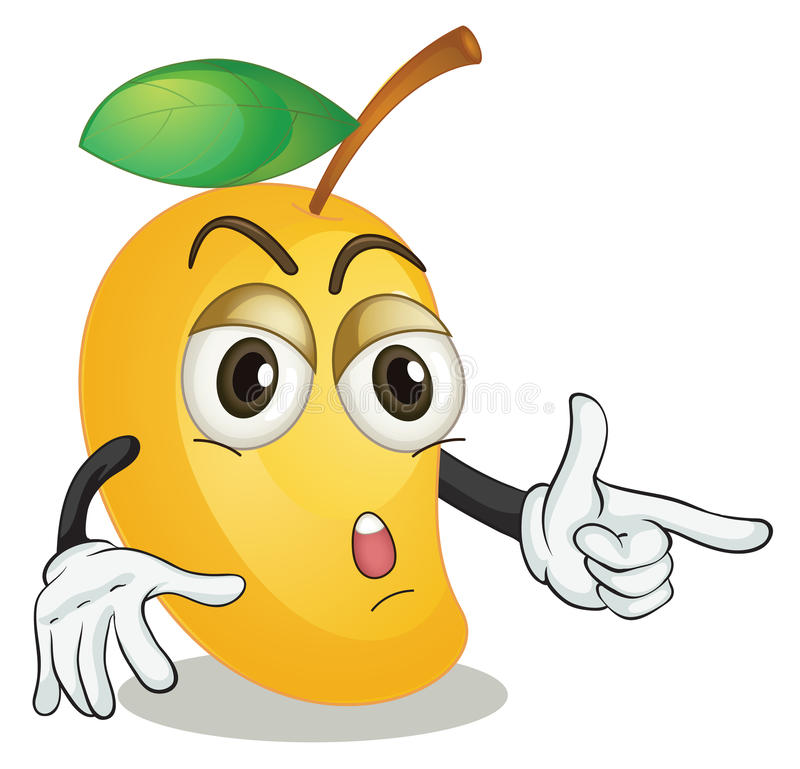 Mango. Illustration of a mango on a white baackground vector illustration