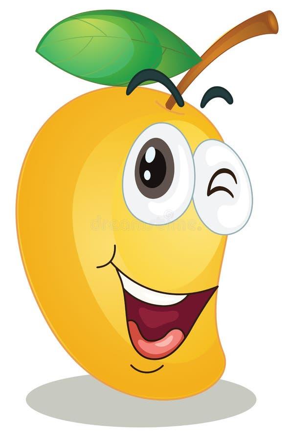 Mango. Illustration of a mango on a white background stock illustration