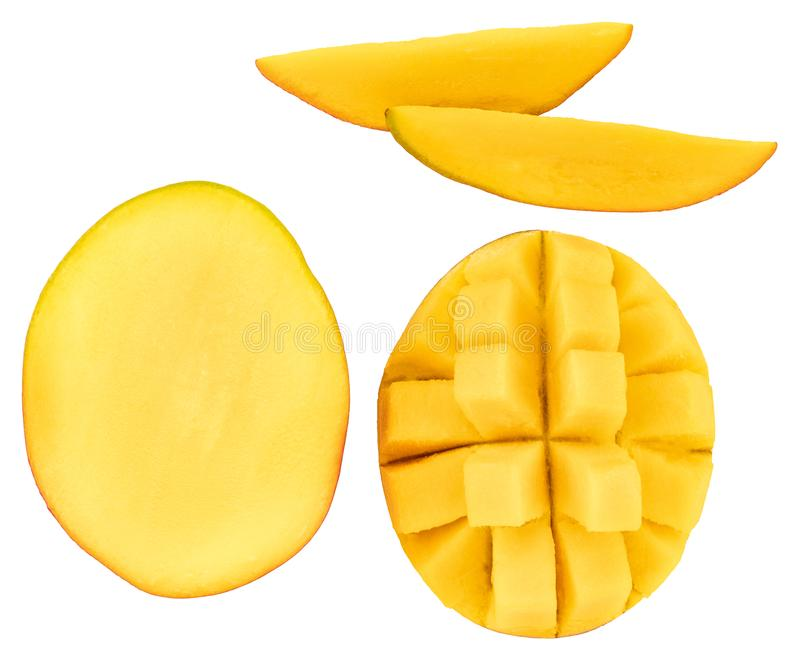 Mango isolated on white background, top view royalty free stock images