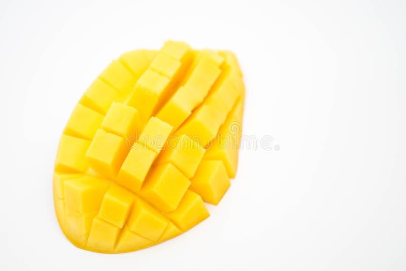 mango isolerad på vitt royaltyfria bilder