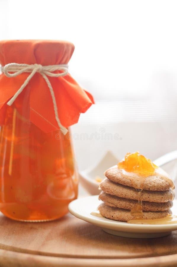 Mango jam stock photography