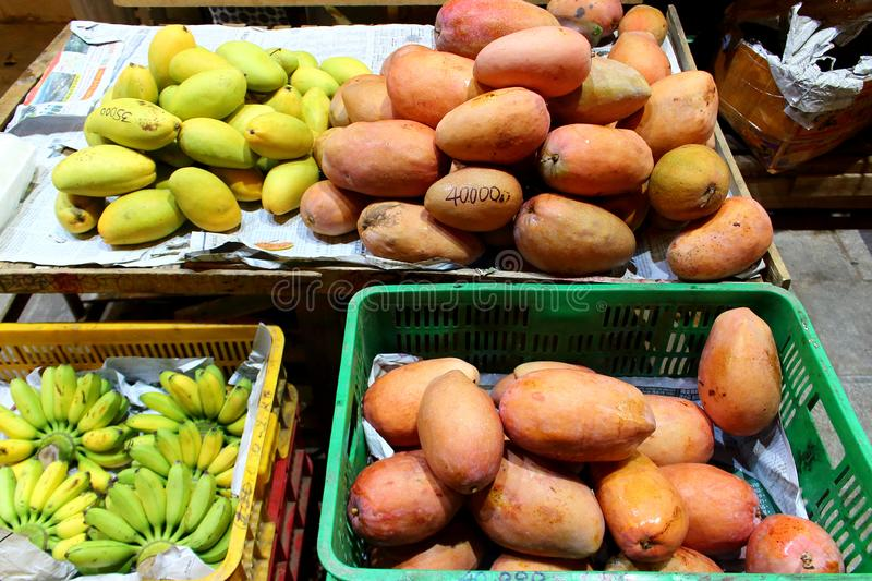 Mango in the local market stock images