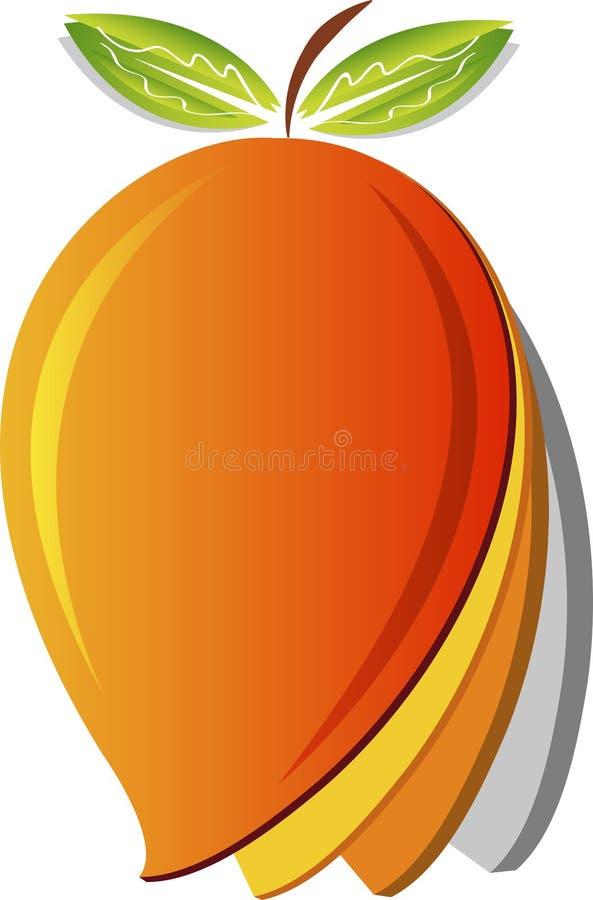 Mango logo. Illustration art of a mango logo with isolated background vector illustration