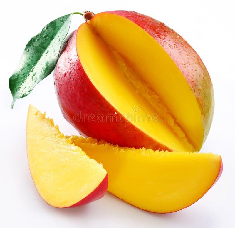 Mango met secties royalty-vrije stock foto