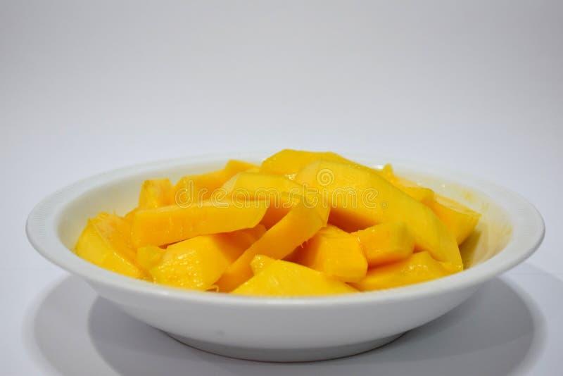 Mango met waterbloem die wordt gekookt stock foto's